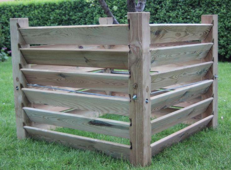 Die 25+ Besten Ideen Zu Komposter Holz Auf Pinterest | Paletten ... Bio Komposter Aus Holz Selber Bauen Anleitung In Einfachen Schritten