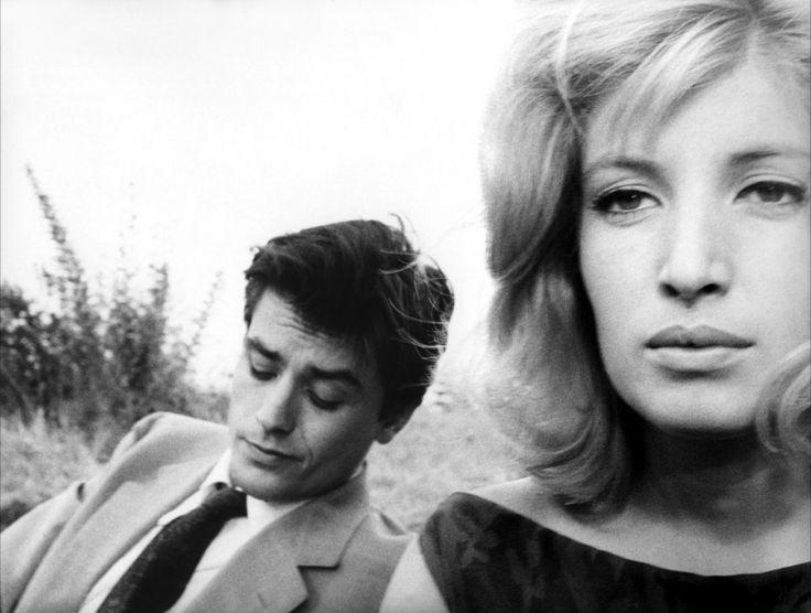 Monica Vitti and Alain Delon in Antonioni's Eclipse, 1962