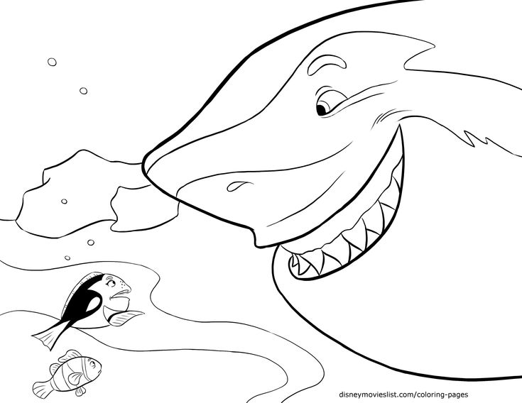 disneys finding nemo coloring pages sheet free disney printable finding nemo color page - Finding Nemo Coloring Pages Bruce