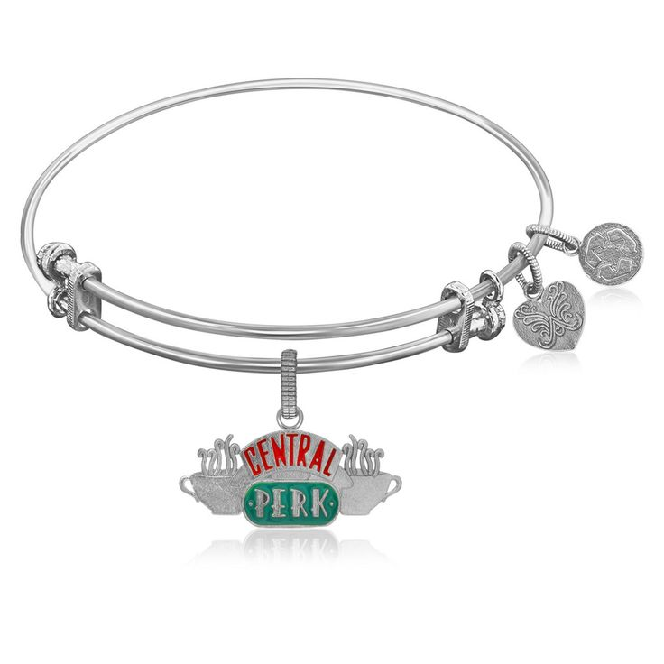 Expandable Bangle with Central Perk Symbol