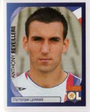 LYON - Anthony Reveillere #215 PANINI 2007-2008 Champions League Official Football Sticker