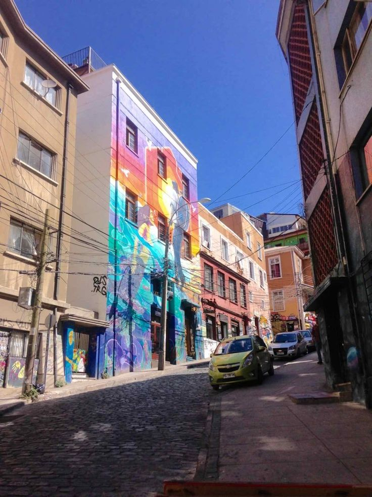 Street Art, Valparaiso, Chile.   Valparaiso, Chile is gritty, colourful and full of character. From street art and top food, to the adventures of hopping on board funiculars and trolleybuses, this is one city you've got to see for yourself.
