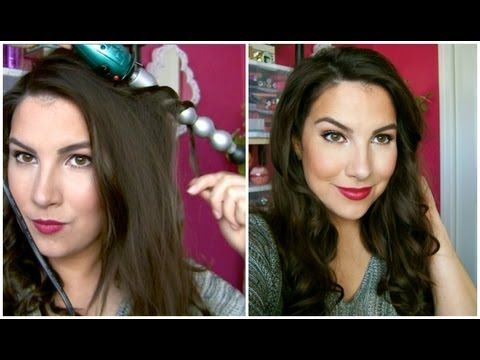 ▶ Volumized Waves Using a Bubble Curling Wand! - YouTube