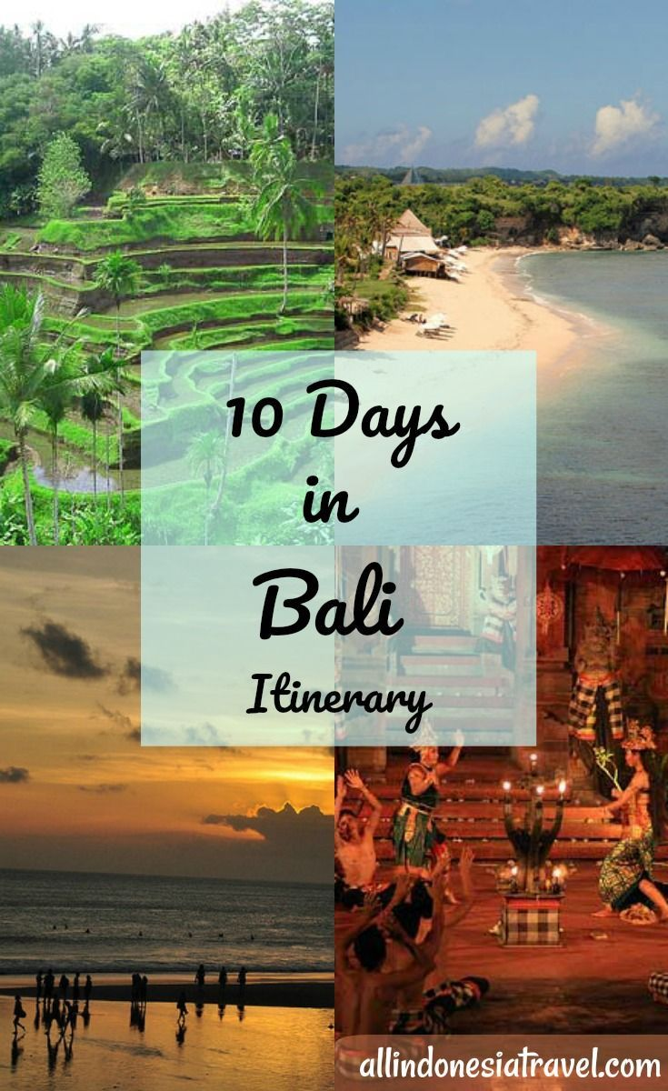 10 days in Bali Itinerary |  With 10 days in Bali, you can be sure you can take everything at an easy pace (lucky you!) and be able to cover all the must visit places in Bali and try out some of the things to do in Bali as well.  In this itinerary you will find yourself relaxing at one of the best beaches of Bali, eating the best foods of Bali, catching the famous Kecak Dance performance, visiting two of the best temples in Bali. | http://allindonesiatravel.com