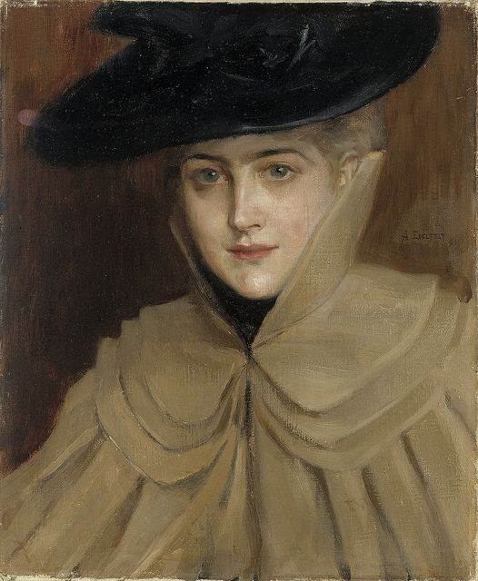 Portrait of a Young Woman 1891 - by Albert Edelfelt