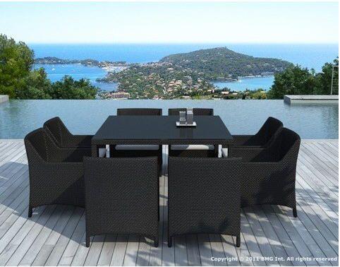 Table de jardin résine + 8 fauteuils résine MERONA Atylia prix promo Salon de Jardin Atylia 989,00 €
