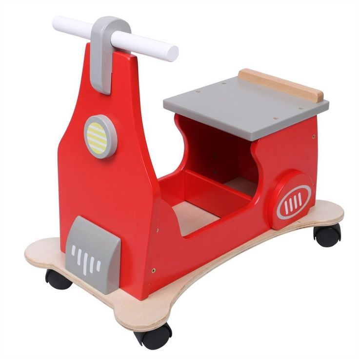Hessie Baby Walker Multifunction 4-Wheeled Red Scooter Kids Toy Christmas Gifts