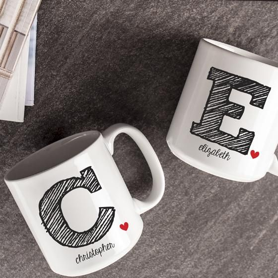 Your favorite coffee drinker will love this. A personalized coffee mug with their initial on it. HomeDecorators.com #12DaysofDeals2015 #gifts