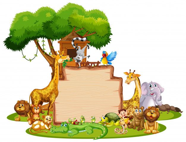 Download Border Template With Cute Animals For Free Cute Animal Illustration Cute Animals Border Templates