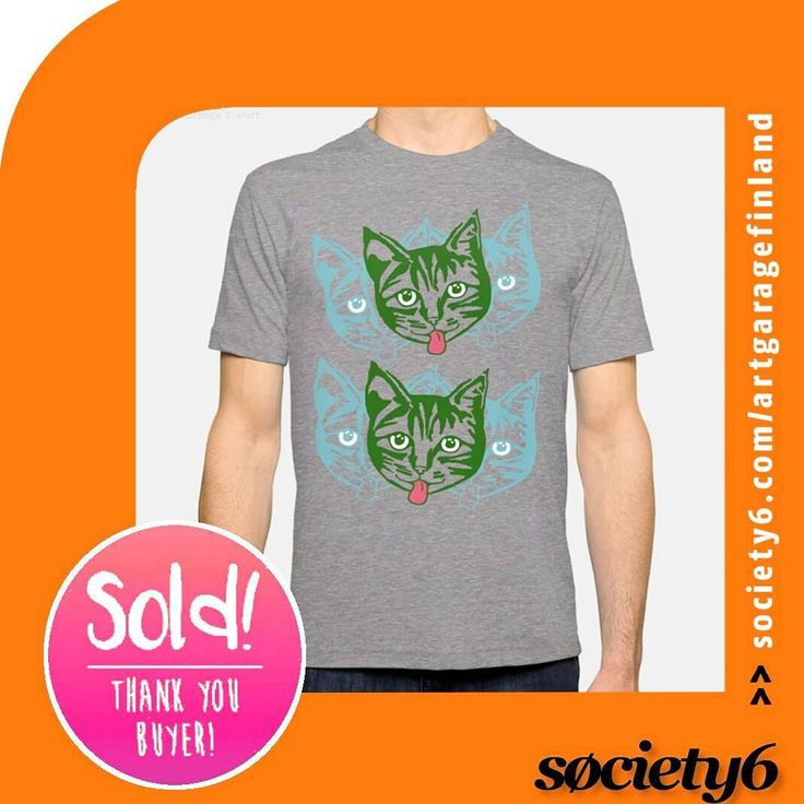 Sold!!! 😀 ...thanks to the buyer of this Mens fitted t-shirt design from my Society6 webstore. It's called 'Mollycat Orange' and features my own cat who benefits from any profits the folk @society6 kindly pay out. Your custom is much appreciated and helps Molly get through the long cold winter up in Finland. She eats a lot of catfood!!! Follow Molly here on Instagram @mollycat_finland . . #cat #cats #catdesign #tees #tshirt #society6artist #fashion #springfashion #clothes #art #猫 #catlover