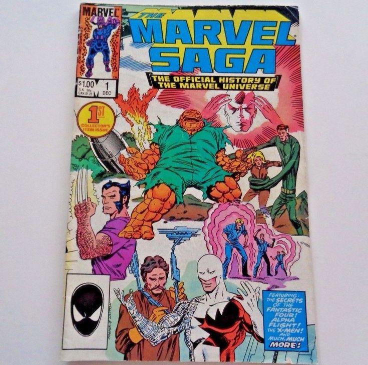 DC Comics The Marvel Saga #1 December 1985