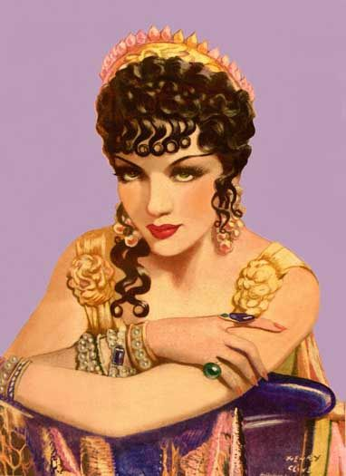 Claudette Colbert from The Ten Commandments - Henry Clive