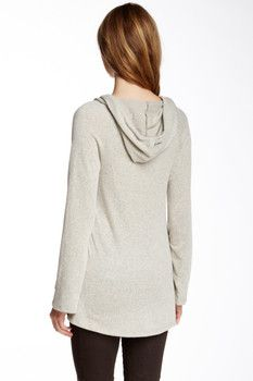Love On A Hanger Long Sleeve Knit Floral Print Hoodie