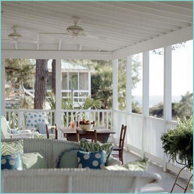 Wonderful white porch