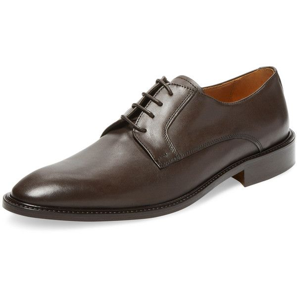 Wall + Water Men's Narrow Lace Derby Shoe - Dark Brown - Size 10.5 ($129) ❤ liked on Polyvore featuring men's fashion, men's shoes, men's dress shoes, dark brown, mens narrow dress shoes, dark brown mens dress shoes, mens dress shoes, mens lace up dress shoes and mens shoes