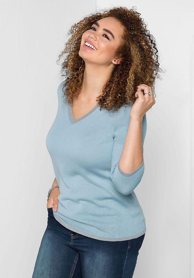 sheego Casual V-Ausschnitt-Pullover Jetzt bestellen unter: https://mode.ladendirekt.de/damen/bekleidung/pullover/sonstige-pullover/?uid=19eaa39c-c3e4-5986-a758-4b0651e1a523&utm_source=pinterest&utm_medium=pin&utm_campaign=boards #sonstigepullover #pullover #bekleidung