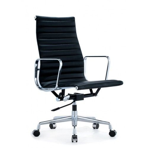 eames office thin high back chair replica half leather
