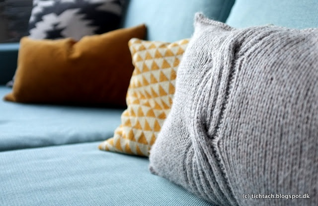 soft and knitted pillow #tichtach