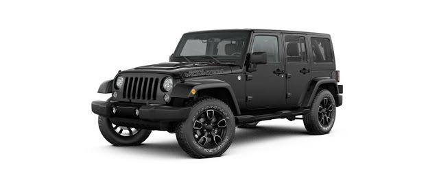 black Jeep Wrangler 4 door