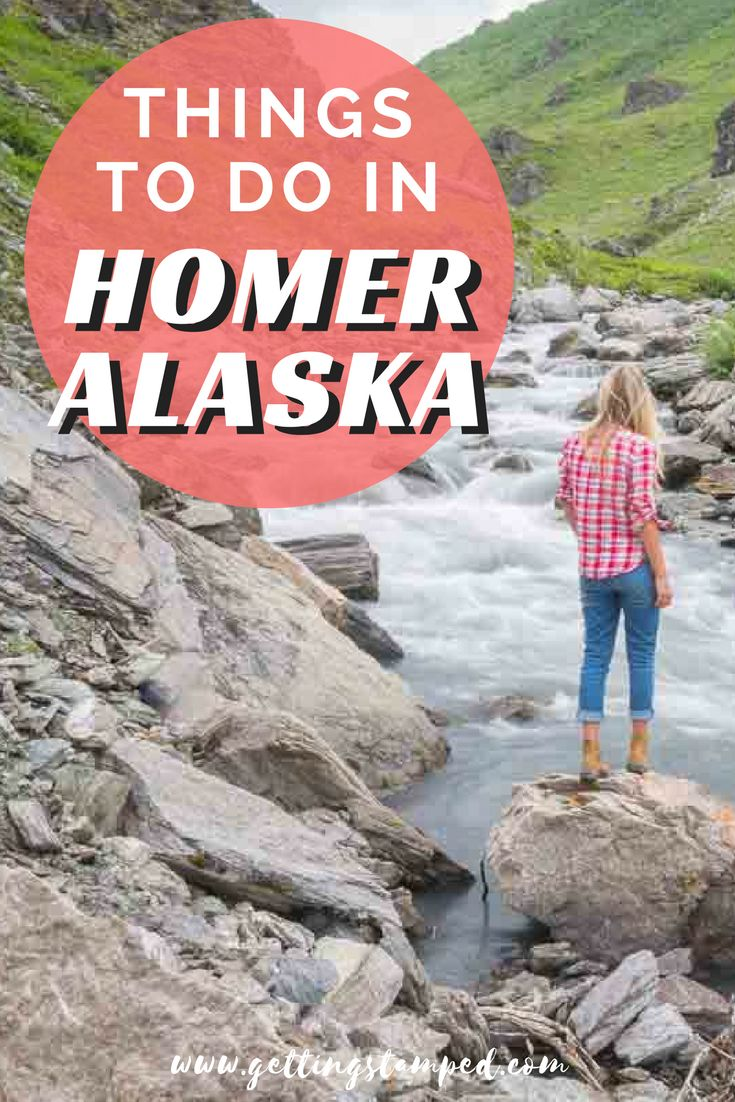 A travel guide covering the best things to do in Homer, Alaska. Explore the Homer Spit at the Southern tip of the Kenai Peninsula and end your adventure with a drink at Homer Brewing Company. Find a variety of accommodation such as hotels, cabins, and campgrounds with some even located right on the beach. | Getting Stamped - Couple #Travel & #Photography #Blog #Alaska