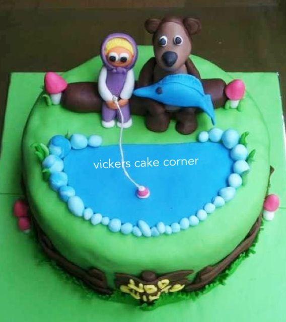 Masha & The Bear Cake
