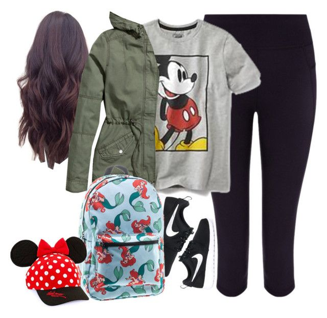 """""""Disneyland outfit"""" by divinitimarie ❤ liked on Polyvore featuring Sweaty Betty, Disney, H&M and NIKE"""