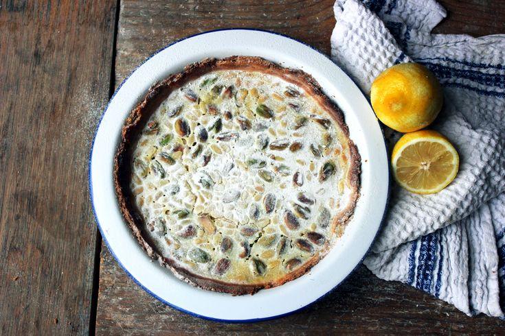 tart lemon tart with raspberries lemon pine nut lemon tart with pine ...