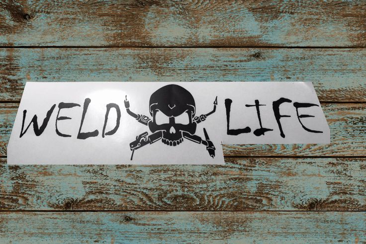 Weld Life Skull Decal Weld Sticker Vinyl Decal Yeti