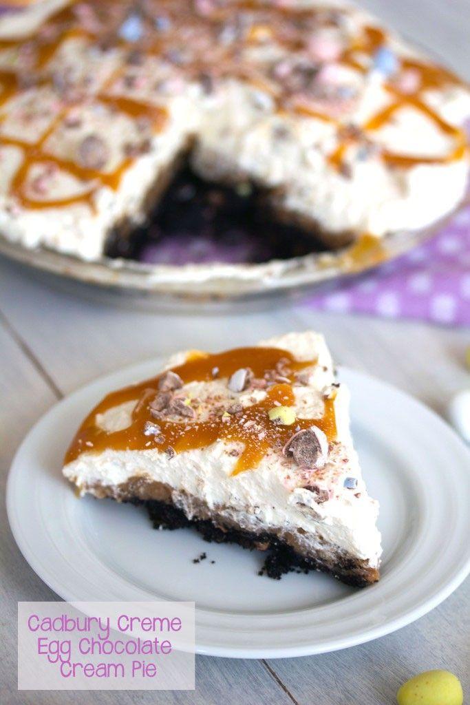 Cadbury Creme Egg Chocolate Cream Pie -- This Easter dessert combines ...