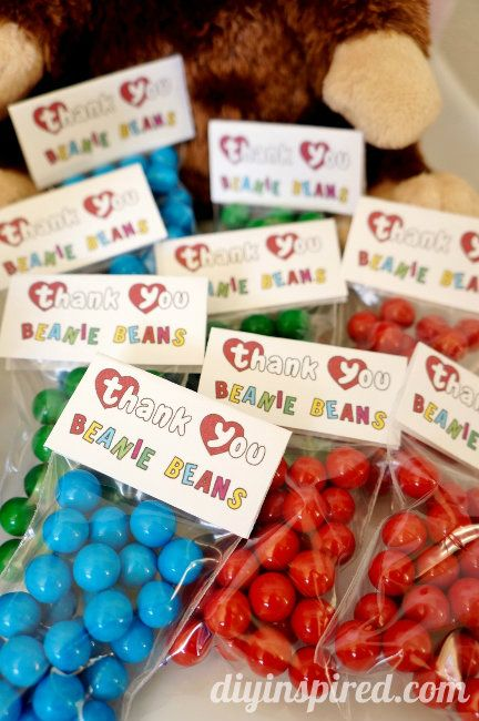 Beanie Baby Party Ideas with Printables