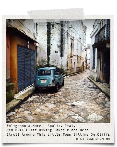 Polignano a Mare - Apulia, Italy (pic: saarahshine (https://www.instagram.com/saarahshine/) via www.hiddentreasures.ch)