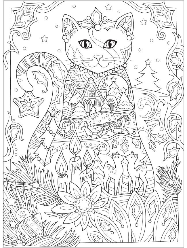 Welcome To Dover Publications Cat Coloring Book Coloring Books Cat Coloring Page