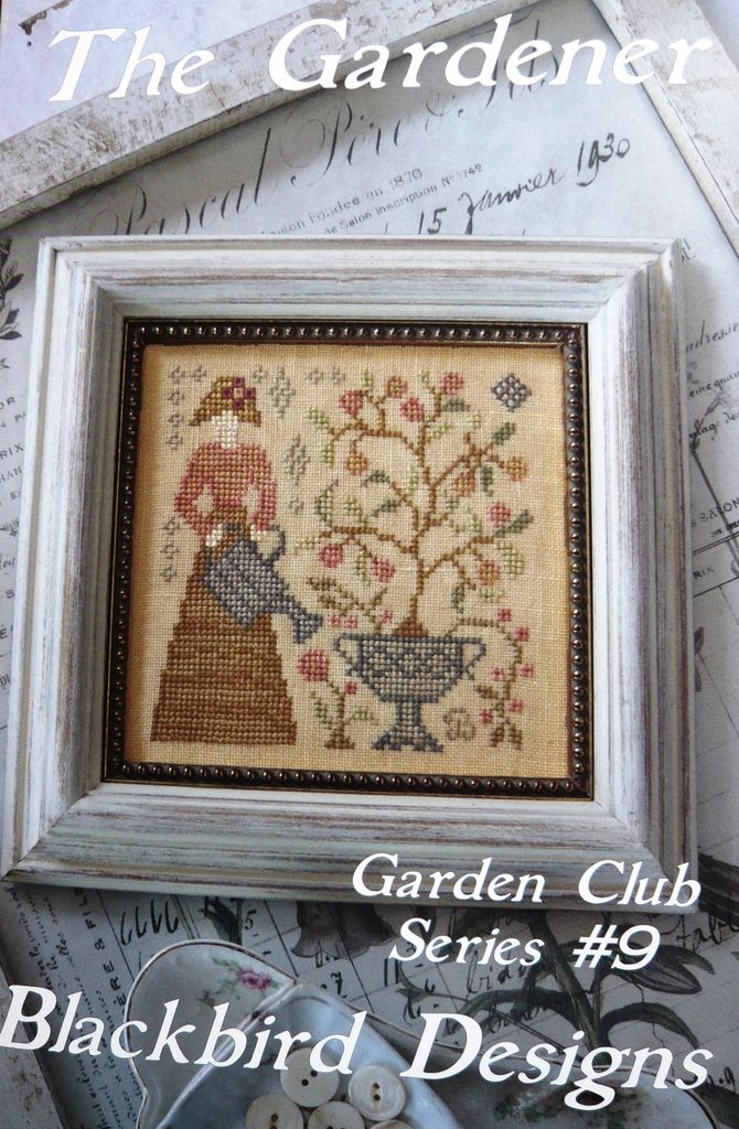 Garden club series 9 the gardener blackbird designs for Christmas garden blackbird designs