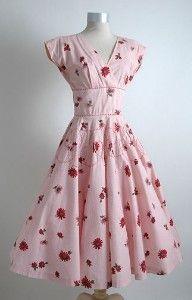 Hemlock Vintage Clothing, 1950's floral dress