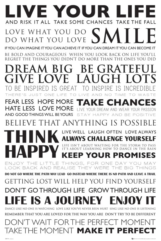 GB Eye 61 X Cm Live Your Life Maxi Poster, Assorted