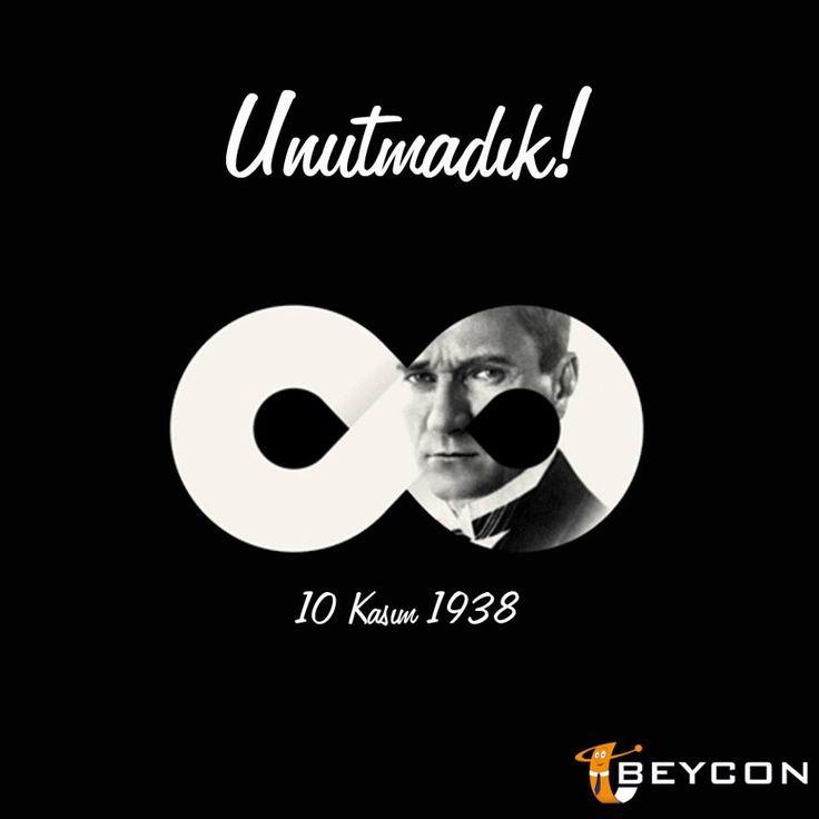 Ata'mızı saygı ve özlemle anıyoruz.  #Beycon #MustafaKemalAtatürk #OnKasım