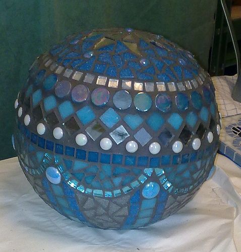 2011-04-03 turqoise globe grouted not cleaned up | Flickr - Photo Sharing!
