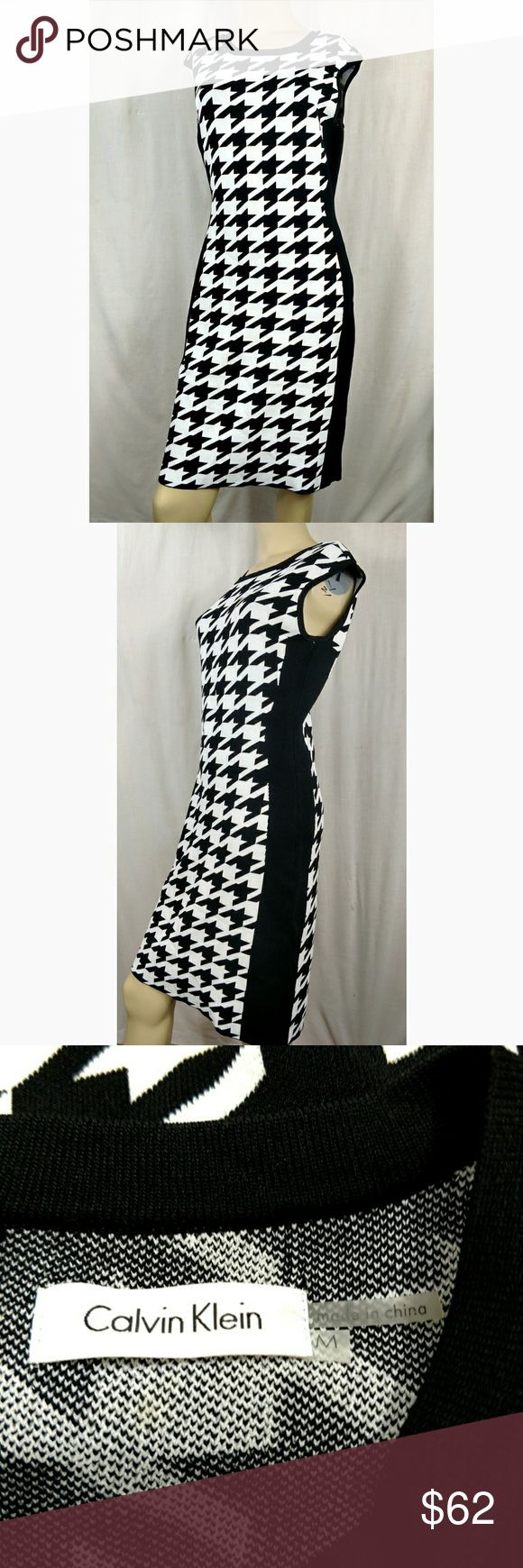 CALVIN KLEIN cocktail work pencil dress. MEDIUM Houndstooth pattern. New without tags.  (B) Calvin Klein Dresses