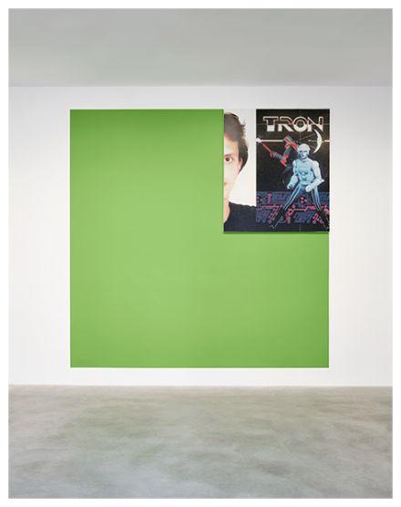 Michael Majerus, Tron 4 (grün Pantone 375) (1999), via Matthew Marks