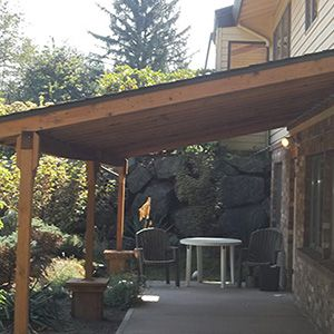 Inspiration Permanent Deck Awnings. Landscaping Portfolio 14 best Backyard Awning images on Pinterest  Patio and