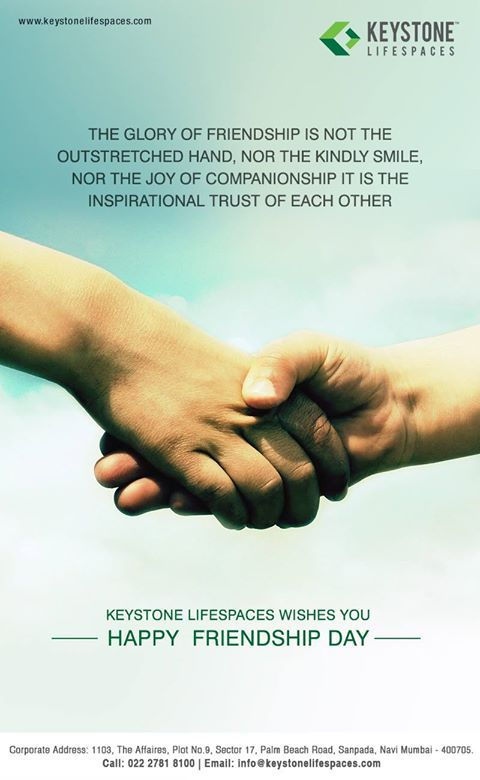 Keystone Lifespaces wishes you all a very Happy Friendship Day  #FriendshipDay2017 #Celebration #Occasion #Friends
