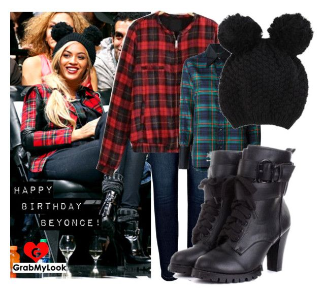 """""""GrabMyLook Tribute to Beyonce - Happy Birthday!"""" by grabmylookfashion ❤ liked on Polyvore featuring Anine Bing and Jean-Paul Gaultier"""