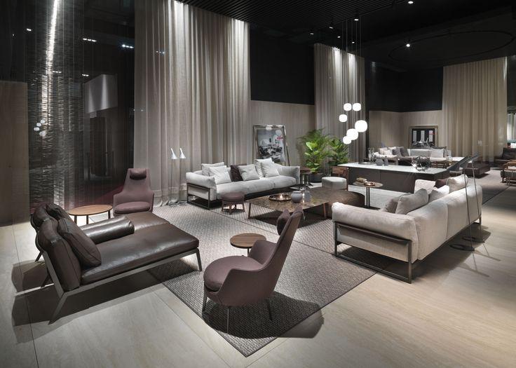 #FLEXFORM ZENO LIGHT #sofa and HAPPY #chaiselongue #design Antonio Citterio. Find out more on www.flexform.it