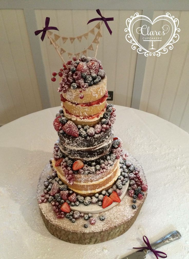 Naked Wedding Cake From My Wedding Winter Fruits Used And