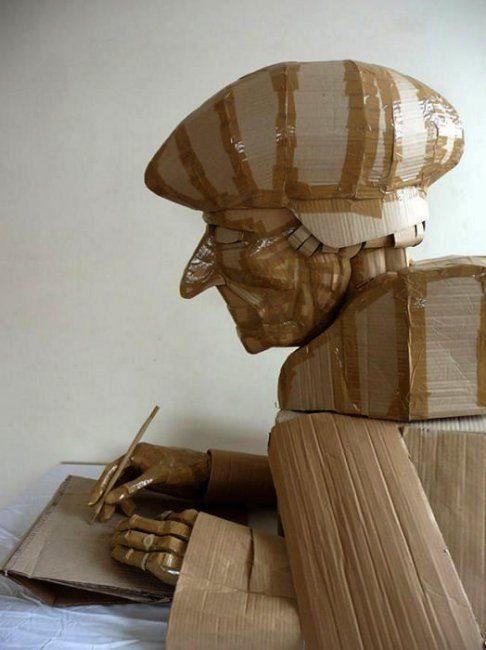 Скульптуры из картона от Дилана Шилдса (Dylan Shields) (5 фото)