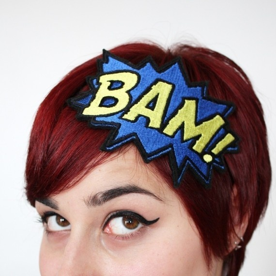 Bam comic headband: Bam Comic, Halloween Costumes, Costumes Parties, Style Hair, Comic Books, Superheroes, Super Heroes, Comics, Comic Headbands