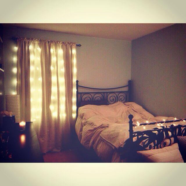 Christmas Lights In Bedroom Cozy Home Pinterest