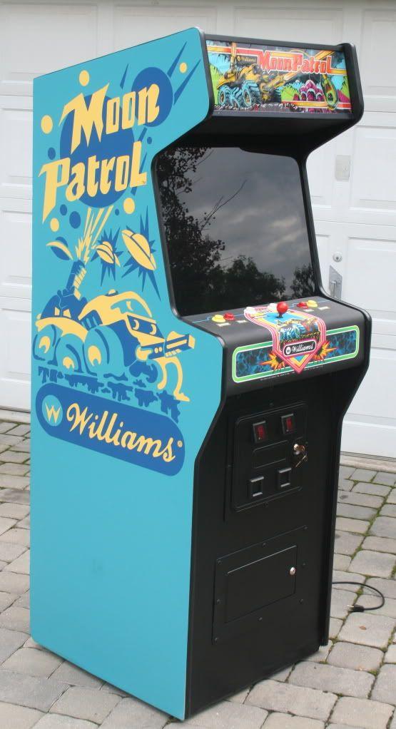 Moon Patrol Arcade Cabinet Art