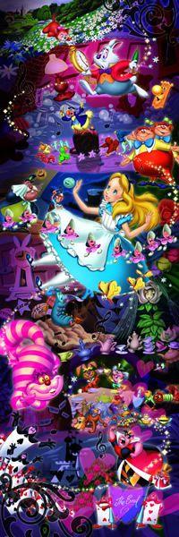 Tenyo Japão Quebra-cabeça d-950-588 Disney Alice No País Das Maravilhas (950 Peças)