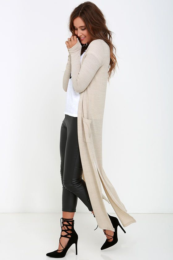 Long Way Home Beige Cardigan Sweater at Lulus.com!